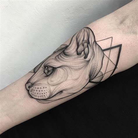 black work tattoo and eerie creature tattoos by russian artist bored