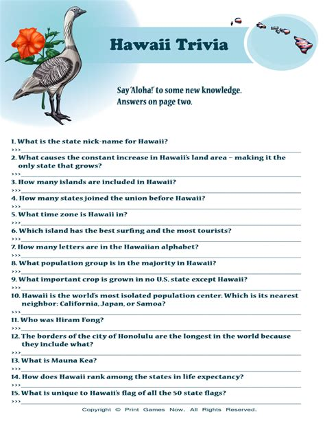 6 best images of printable baseball trivia and answers american games hawaii trivia 6 95 american printable