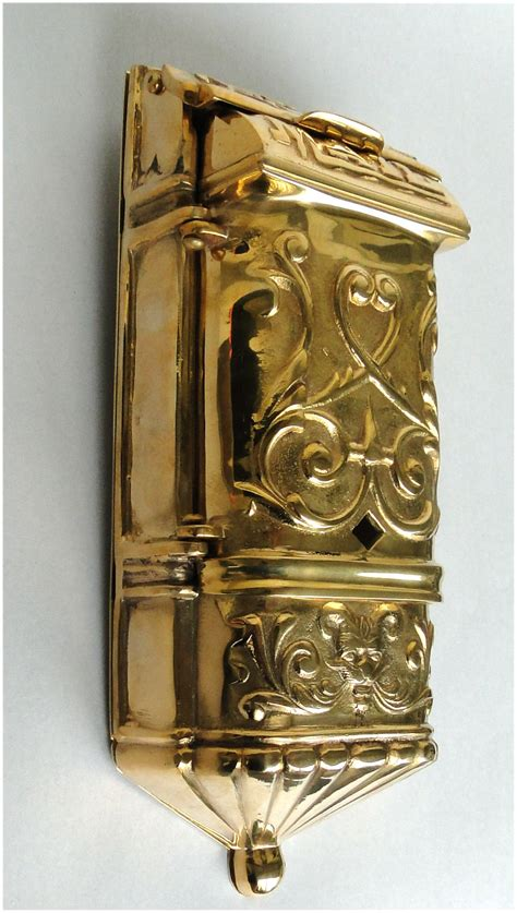 motif mail box mailbox vintage style solid brass