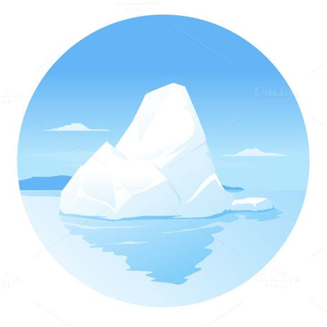 clipart iceberg iceberg illustrations on creative market