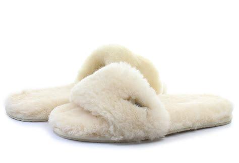 slide on slippers ugg slippers w fluff slide 1005565 nat shop