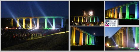 Wales Search Searchlights Light Up Pontcysyllte Aqueduct Emf Technology