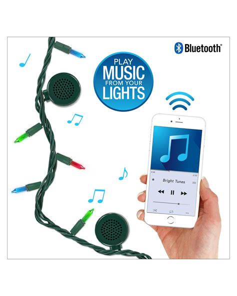 string lights with speakers bright tunes indoor outdoor multi colored incandescent
