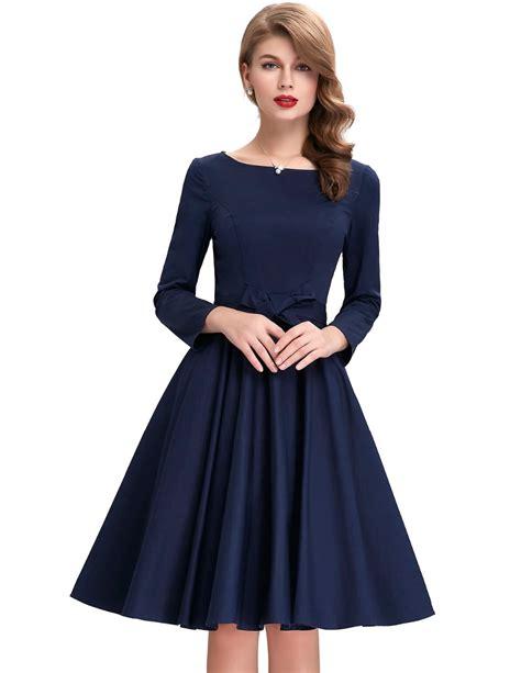retro swing dresses vintage long sleeve retro swing dress uniqistic com