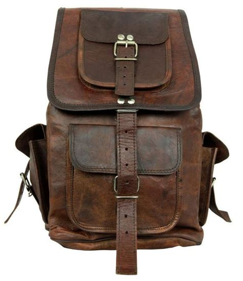 Handcrafted Backpacks - leather backpack messenger bag handmade soft leather mens
