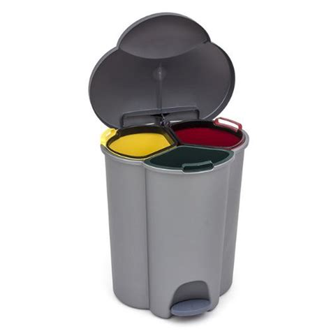 Kitchen Trash by Kitchen Trash Can With 3 Inner Container For Waste Segregation