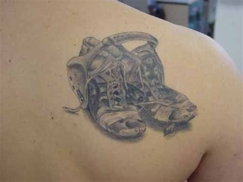 wrestling shoes tattoo my