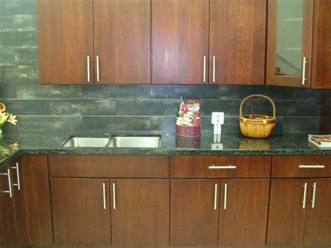 Slab Door Kitchen Cabinets | cherry slab door kitchen cabinets m14
