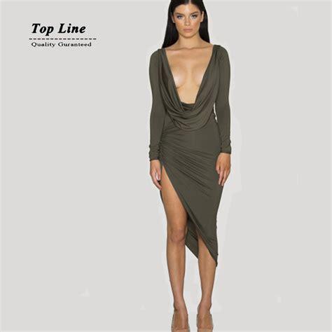 deep v plunge dress aliexpress com buy best quality deep v neck plunge women