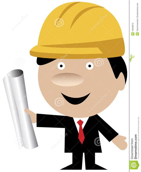 Home Based Design Engineer engineer or architect with helmet and blueprints royalty
