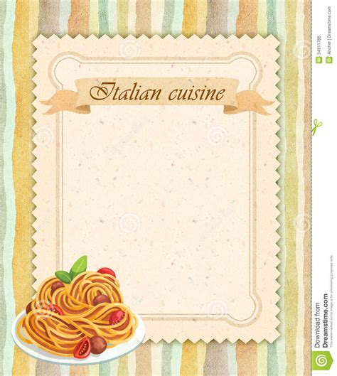 Kitchen Designs And Prices italian cuisine restaurant menu card design in vintage