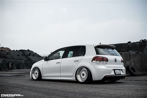 volkswagen golf gti stance in white yasunobu s usdm style vw golf
