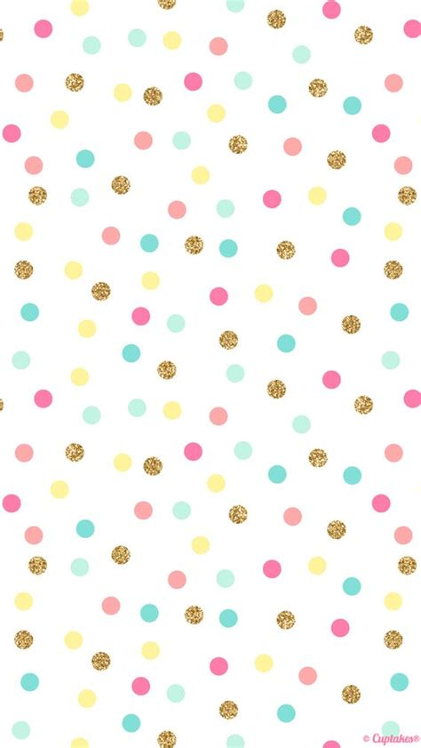 dot pattern screen lock for iphone mint pink gold confetti spots dots iphone wallpaper phone