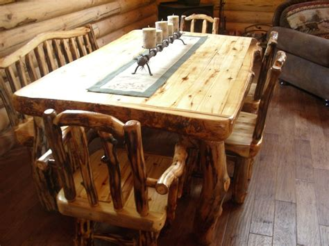 aspen dining room table cabin stuff pinterest 23 best log furniture images on pinterest log furniture
