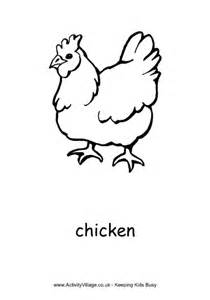 chicken colouring page 2