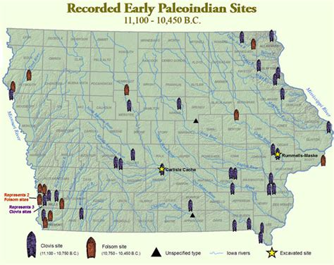 iowa state cus map iowa s earliest residents the office of the state archaeologist