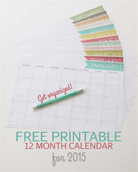 free printable cute monthly planner 2015 free printable calendars for 2015 paper crush