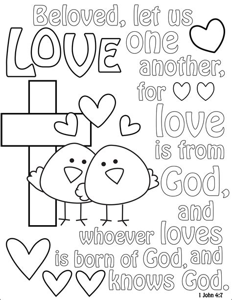 bible coloring pages love 5 best images of gods love coloring pages printable god
