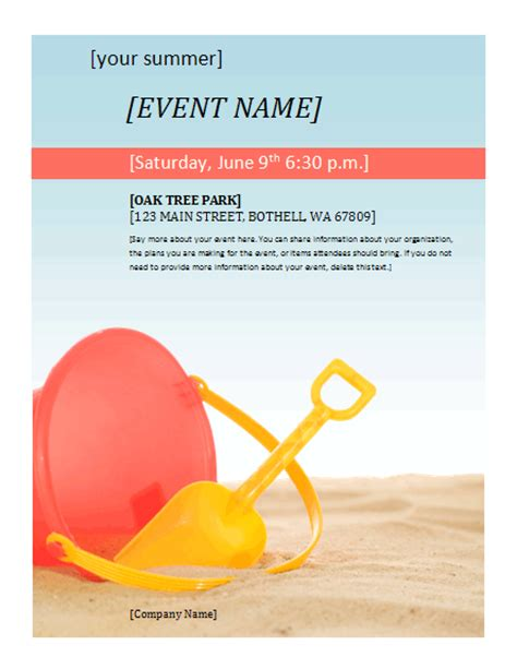 summer event flyer free flyer templates for