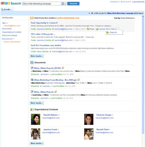 Zoho Search Zoho S Unified Search Trumps Apps