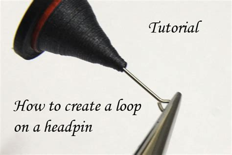 How To Make A Loop For A Paper Roller Coaster - how to make a loop at the top of a headpin for earrings