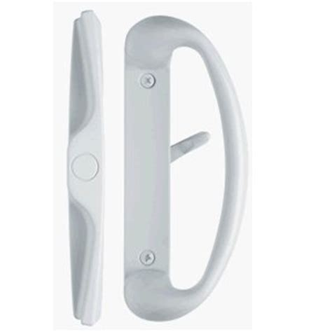 White Sliding Glass Door Handle Rockwell Cambridge Sliding Glass Door Handle Set In White Finish For 3 15 16 Quot Ctc Screwhole