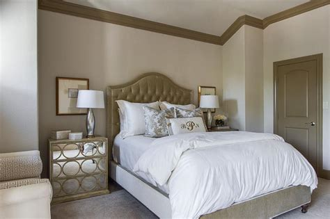 taupe walls in bedroom taupe headboard transitional bedroom ej interiors