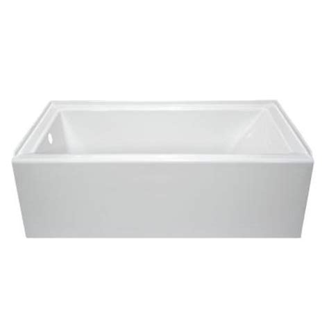 lyons industries linear 5 ft left drain soaking tub in