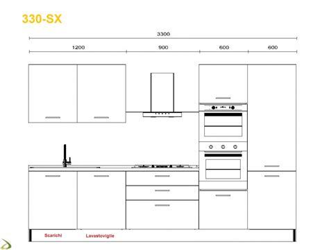 misure lavelli cucina cucina componibile moderna lineare mithos vendita