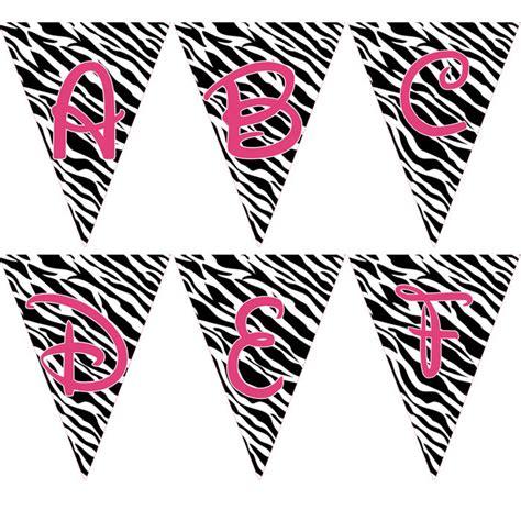free printable zebra banner animal print letters printable clipart best