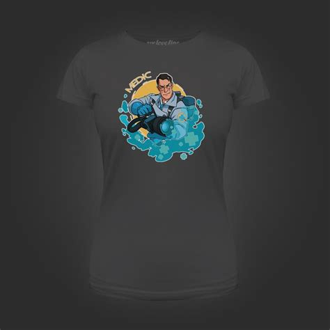 T Shirt Team Screet Dota Harmony Merch valve store blue team medic