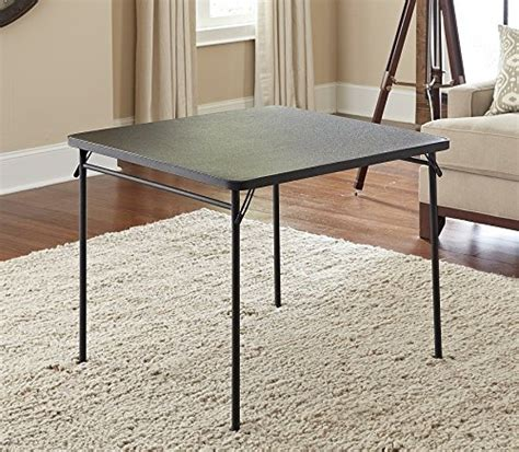 Folding Metal Table Legs Cosco 34 Quot Square Top Folding Portable Table Metal Folding Legs Black New Fr Ebay