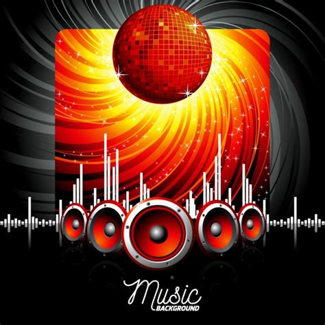 party music music party background vector free download