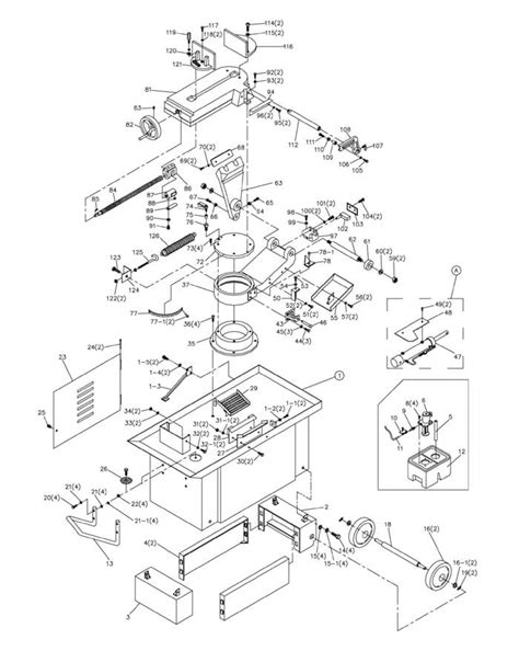 jet band saw parts diagram jet hvbs 710s band saw parts