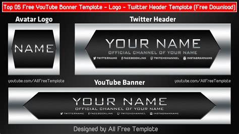 Top 05 Free Youtube Banner Template Logo Twitter Header Template 2017 Free Download Youtube Banner Template 2017