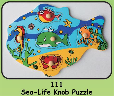 Wooden Knob Puzzles by Wooden Knob Puzzle Quot Sea Quot Educational Toys