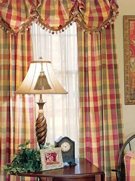 Elegant Plaid Curtains, Elegant Plaid Curtain   Country