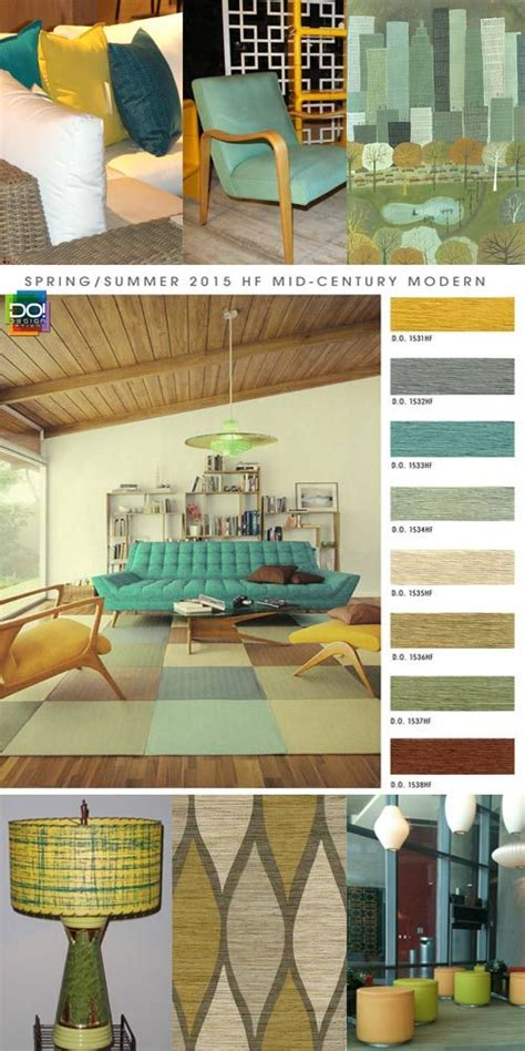 2015 home interior trends summer 2015 home furnishing and interiors color trend report mid century modern for