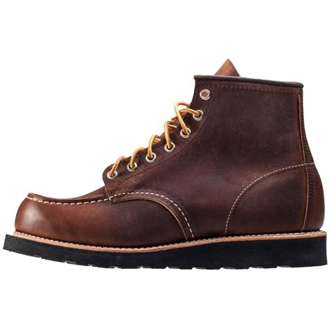 wings mens boots wing 6 inch moc toe mens boots in copper