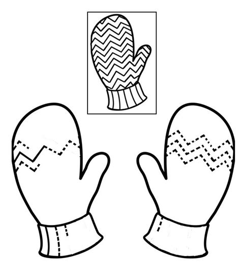 preschool mittens coloring page coloring page preschool worksheets winter complete the
