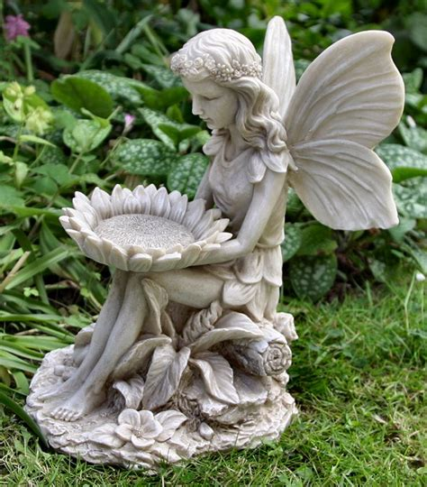 fairy garden statues garden fairy statues sitting fairy with sunflower