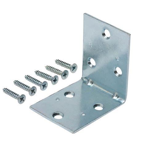 everbilt 1 1 2 in zinc plated corner brace 4 pack 15304