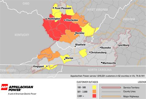 aep power outage map aep update for west virginia appalachian magazine