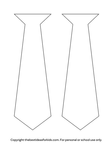 Tie Template The Best Ideas For Kids Free Printable Tie Template