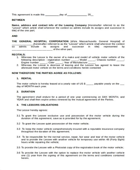 Sle Lease Purchase Agreement Form 6 Free Documents In Pdf Doc Truck Lease Purchase Agreement Template