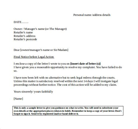 Delinquent Invoice Letter Notice Letter 7 Documents In Pdf Word