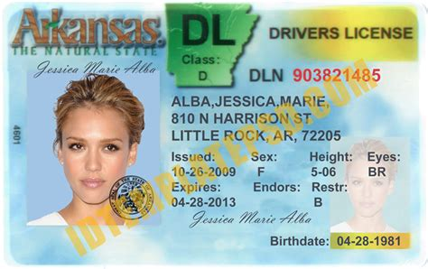 ohio drivers license template this is arkansas usa state drivers license psd