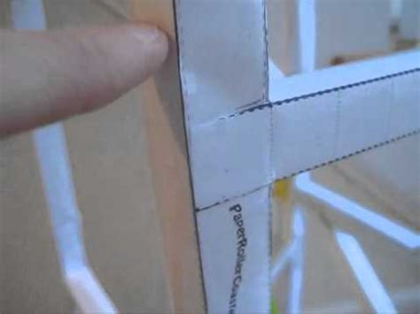 How To Make A Paper Roller Coaster Track - how to make a track on a paper roller coaster