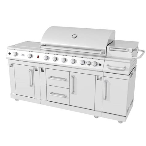 shop master forge 5 burner modular gas grill at lowes com shop master forge 6 burner 73 000 btu natural gas or liquid propane gas and charcoal