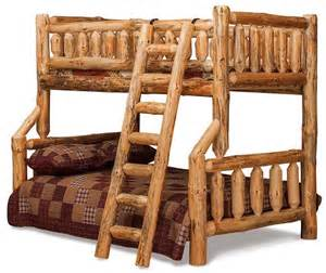 log bunk bed log furniture plans recycled things